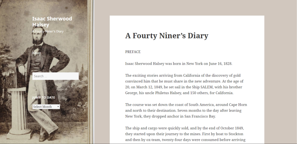 A Fourty Niner's Diary